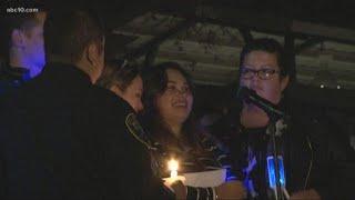 Davis community holds vigil for Officer Natalie Corona