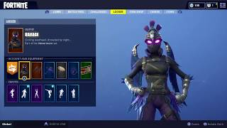 Ravage New Fortnite Skin Showcase - Electro Shuffle, True Heart & Awesome Back Bling!