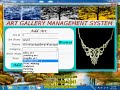 Art gallary management system - visual basic ms-access project