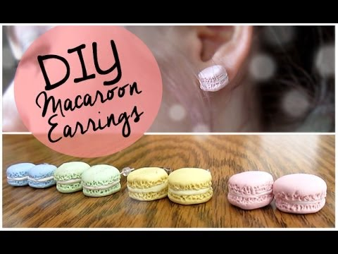 6c5a59641 DIY Macaroon Earrings - YouTube