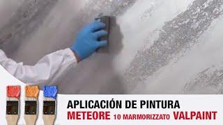 Valpaint Meteore 10 MARMORIZZATO - Como aplicar screenshot 2