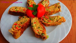 Kore usulü kahvaltılık rulo omlet nasıl yapılır - Kahvaltılık rulo omlet tarifi-Kahvaltılık tarifler
