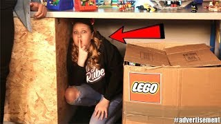 HIDE AND SEEK IN LEGO STORE!!!! w/ LEGO Brickheadz
