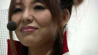 【720p】東京モータショー 超ショートパンツのムチムチレースクイーンw 佐藤かおり 検索動画 2