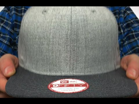 d4867628bf8 New Era  BLANK STRAPBACK  Grey-Charcoal Adjustable Hat - YouTube