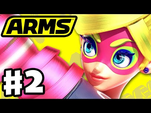 ARMS - Gameplay Walkthrough Part 2 - Ribbon Girl Party Matches! (Nintendo Switch)