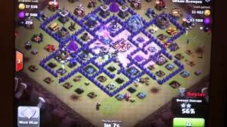Clash of clans (William soso perfect attack )1my groups nam