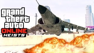 GTA 5 Heists DLC - Hydra Gameplay, Lectro, Valkyrie, INSURGENT and MORE! Vehicle Showcase!