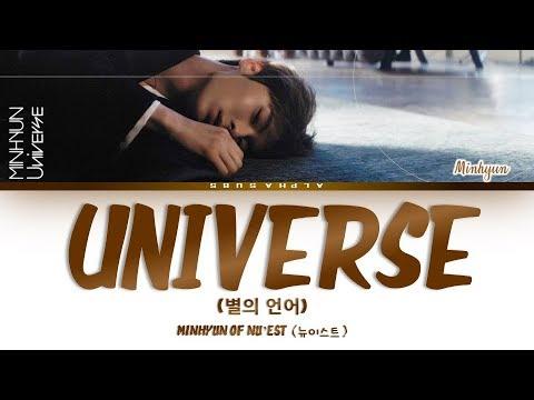Hwang Minhyun 황민현 Of NU&39;EST 뉴이스트 - UNIVERSE 별의 언어 가사 HanRomEng