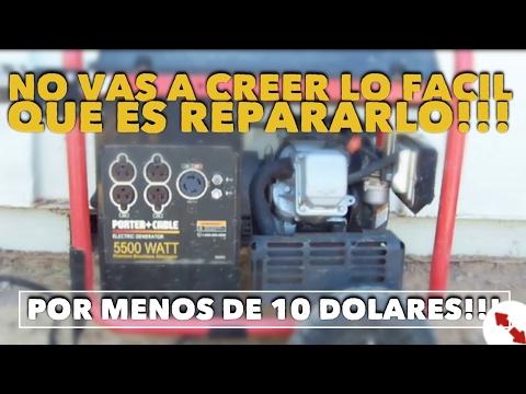 Facil!! Como Reparar Tu Generador | Planta De Luz |  Porter Cable ( Español )