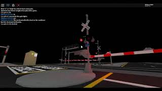 ROBLOX: Playing with the railroad crossing! (ft. Michael Gibson)