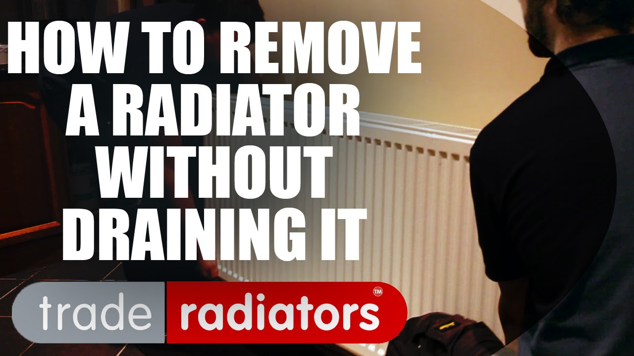 how to remove a radiator without draining it youtube. Black Bedroom Furniture Sets. Home Design Ideas
