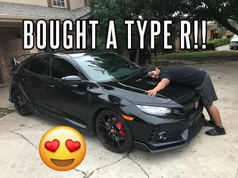 JUST BOUGHT A BRAND NEW CIVIC TYPE R!