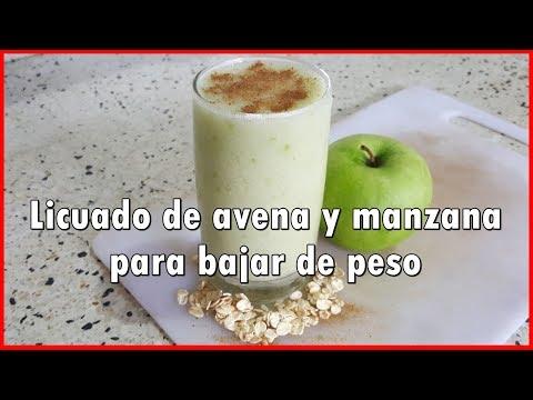 Manzana y avena para bajar de peso