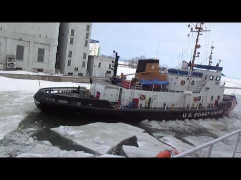 USCGC Katmai Bay opening up our slip.