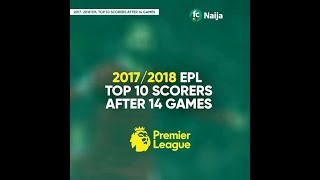 EPL top scorers after 14 games played