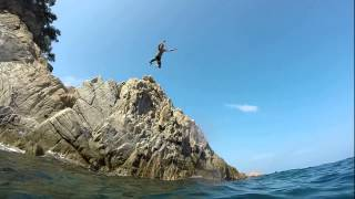 Cliff jumping in Tossa de Mar