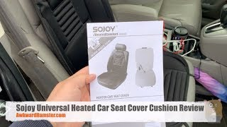 Sojoy Universal Heated Car Seat Cover Cushion Review