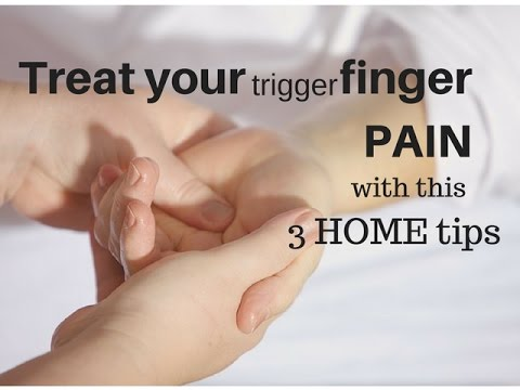 How do you treat trigger finger pain?