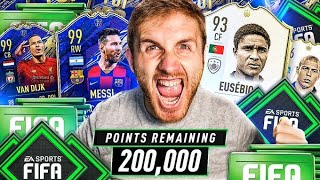 What do you get from 200,000 FIFA Points on Team of the Year Packs?