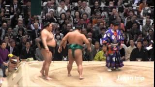 豪栄道 vs 嘉風の取組。 2016大相撲春場所3日目。
