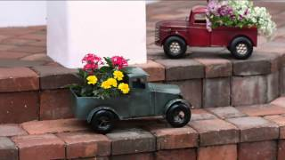 Plow & Hearth Outdoor/indoor Vintage Metal Truck Planter With Carolyn Gracie