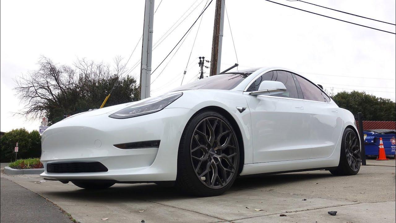 Tesla Model 3 - Vossen Wheels - Full Paint Protection Film ...