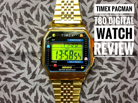 Timex + Pacman T80 Digital Watch Review: Cool Retro 80s Style