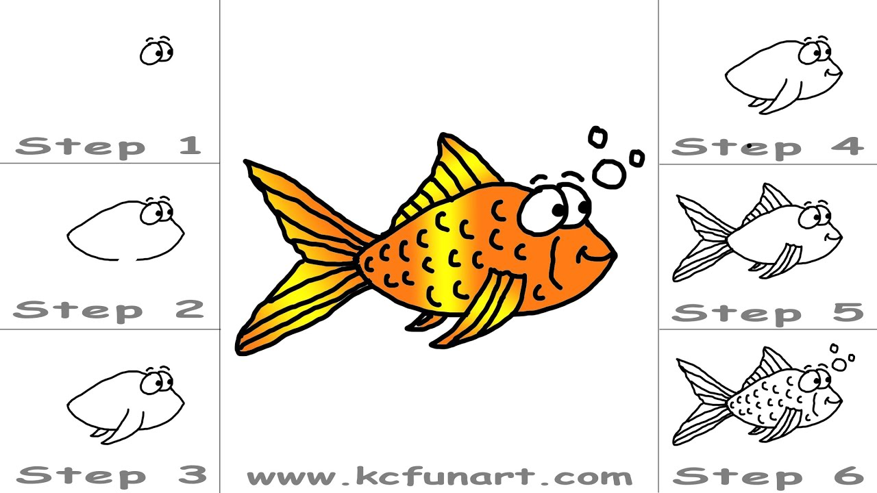 How to draw a goldfish 91