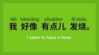 Learn Basic Chinese Phrases: Doctor Visit(英→中)