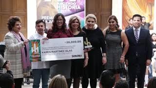 Otorga Gobernadora Premio Estatal de la Juventud 2018