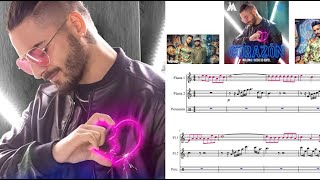 Corazón. Maluma. Partitura flauta.