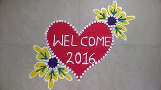 freehand rangoli design new year special youtube youtube