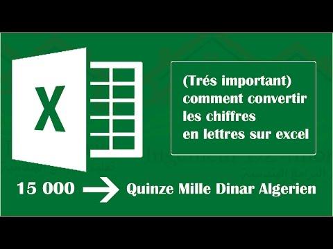(Très important) Comment convertir les chiffres en lettres sur Excel