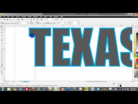 Tutorials: CorelDRAW X5: 3D Text | Doovi