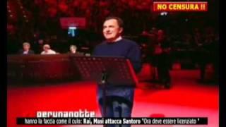 Daniele Luttazzi, monologo a Raiperunanotte (2di2)