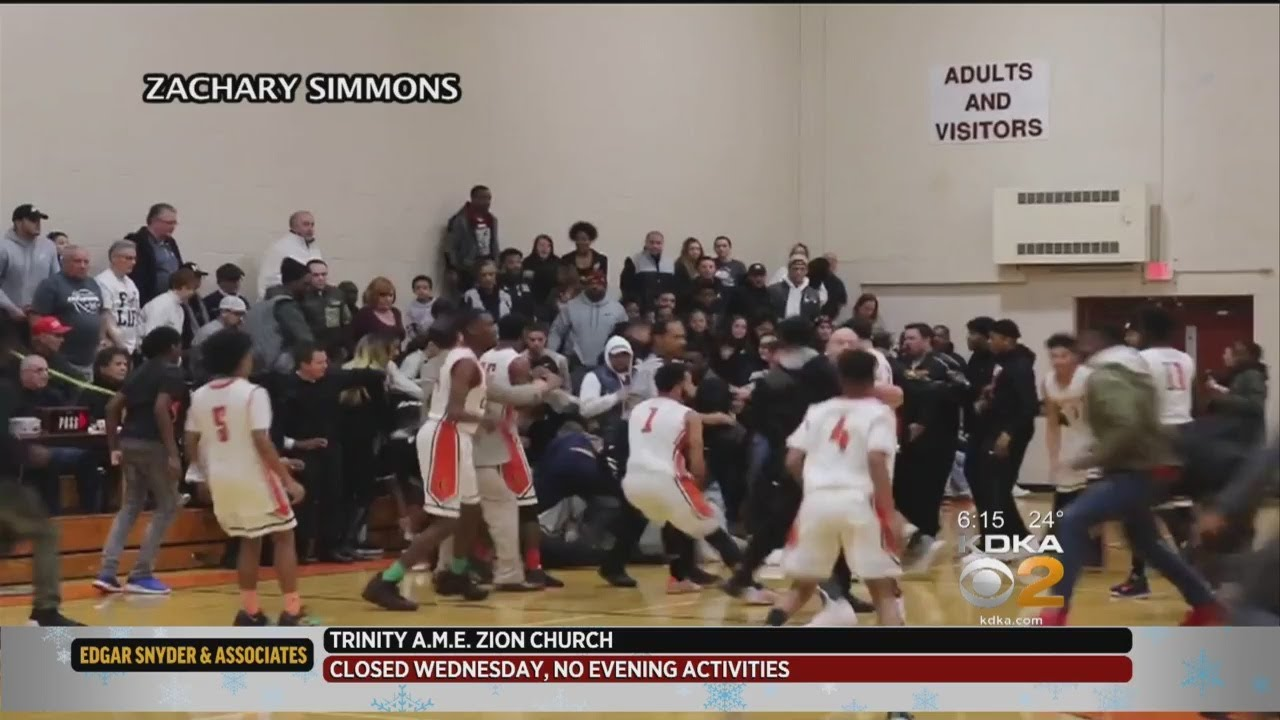 Large Brawl Breaks Out During High School Basketball Game