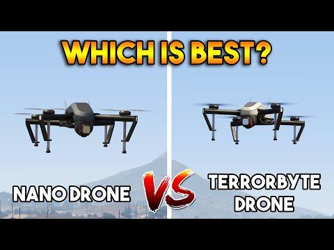 GTA 5 ONLINE : NANO DRONE VS TERRORBYTE DRONE (WHICH IS BEST DRONE?)
