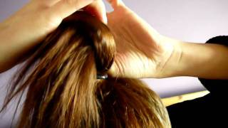 kokarda z włosów, how to make hair bow