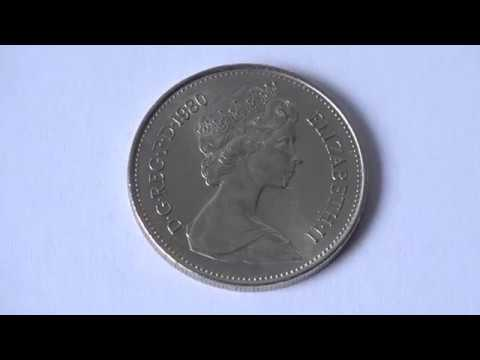 5 New Pence 1980 - British Pound Coin of United Kingdom