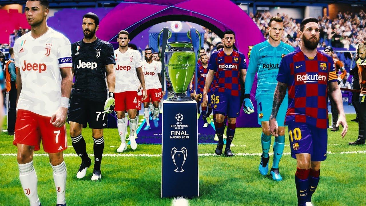 Uefa Champions League Final 2020 Barcelona Vs Juventus Youtube