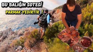 Kıyıdan Yakalaması ve Aksiyonu ''EN ZEVKLİ'' Balık !!  Ustasından Sotesini Yedik - Bölüm 170