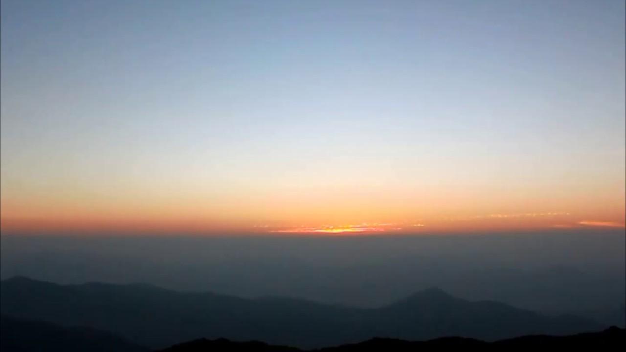 Sunrise Time Lapse Tai Mo Shan 1 Youtube