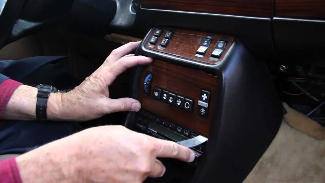 mercedes benz 123 chassis center console wood and switch removal by kent bergsma [ 1280 x 720 Pixel ]