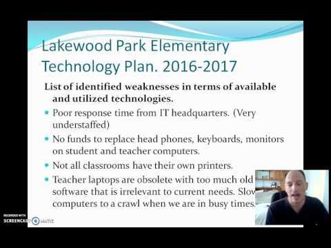 Lakewood Park Elementary School Technology Assessment Plan