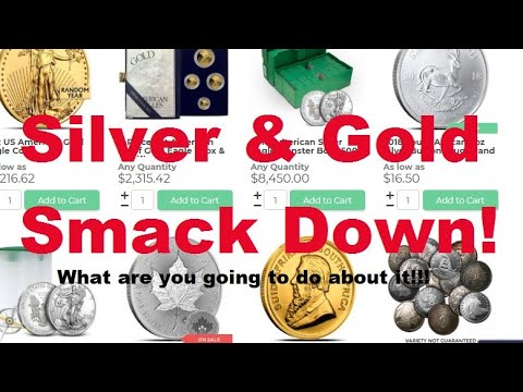 Gold & Silver Smack Down! Dollar up, buy the dip? Spot price is down. The Bean is in for some today!