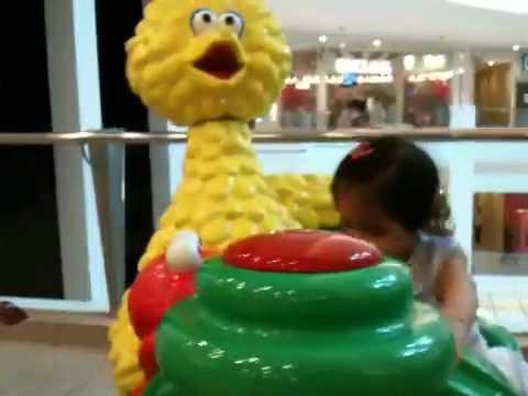 Baby Renny Riding Big Bird Car Gwc May 2010 Youtube