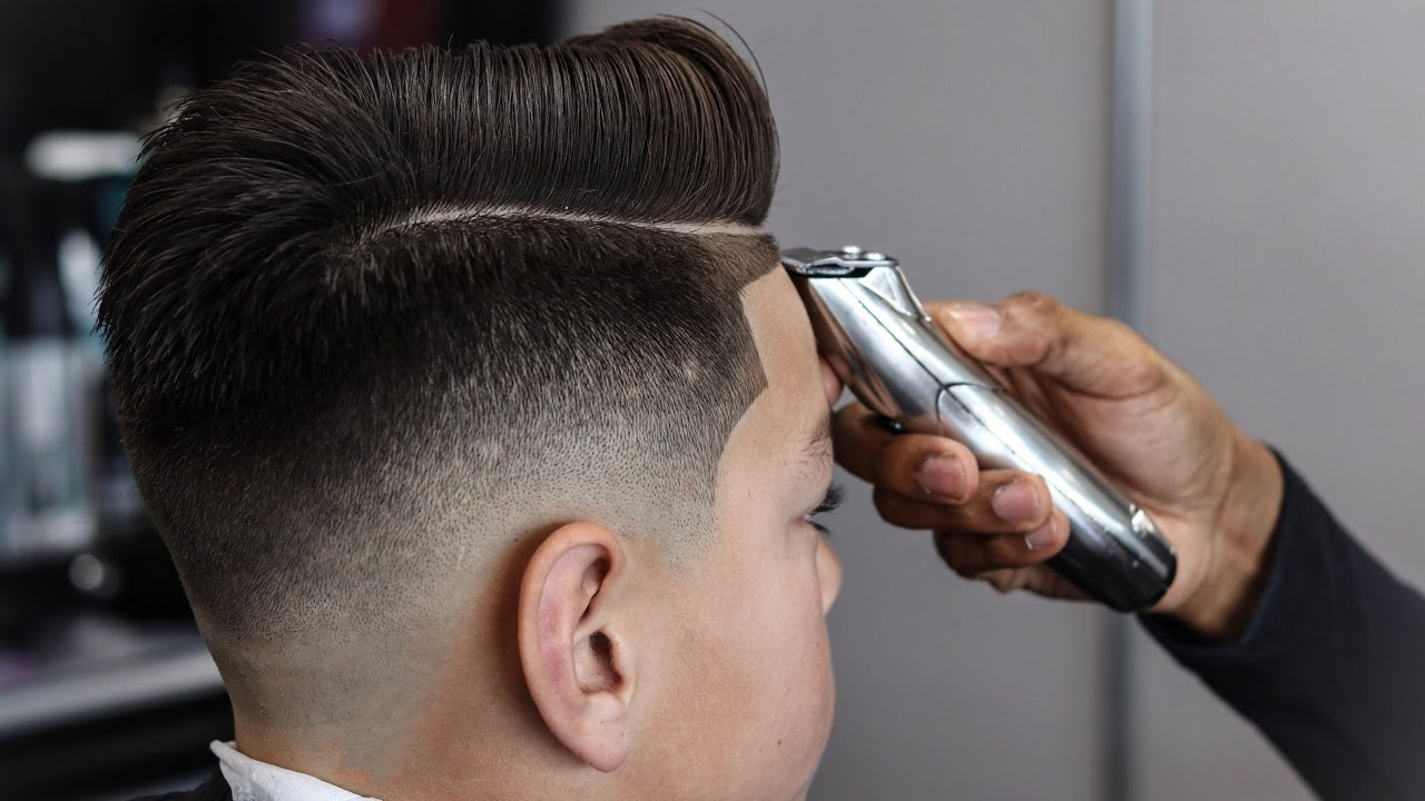 Full Length Haircut Tutorial Combover Drop Fade Blow Dried And