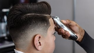 *FULL LENGTH* HAIRCUT TUTORIAL: COMBOVER | DROP FADE | BLOW DRIED AND STYLE FOR STUDENT BARBERS