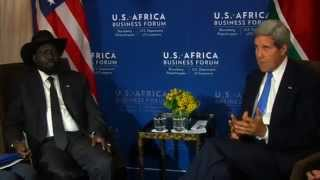 Secretary Kerry Delivers Remarks With South Sudanese President Kiir
